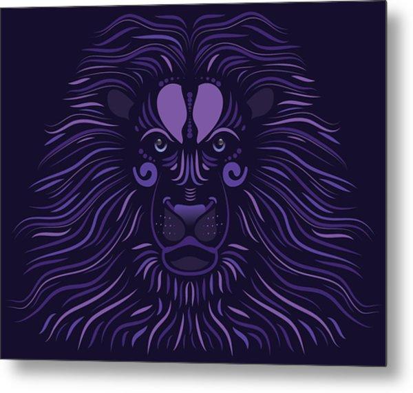 Yoni The Lion - Dark Metal Print