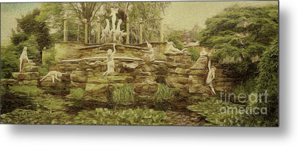 York House Gardens Statues - Twickenham Metal Print