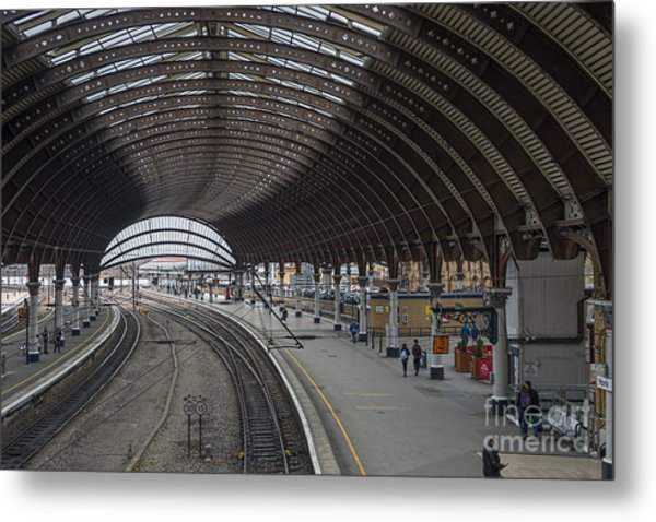York Rail  Station  Northbound Metal Print