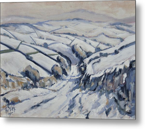 Yorkshire In The Snow Metal Print