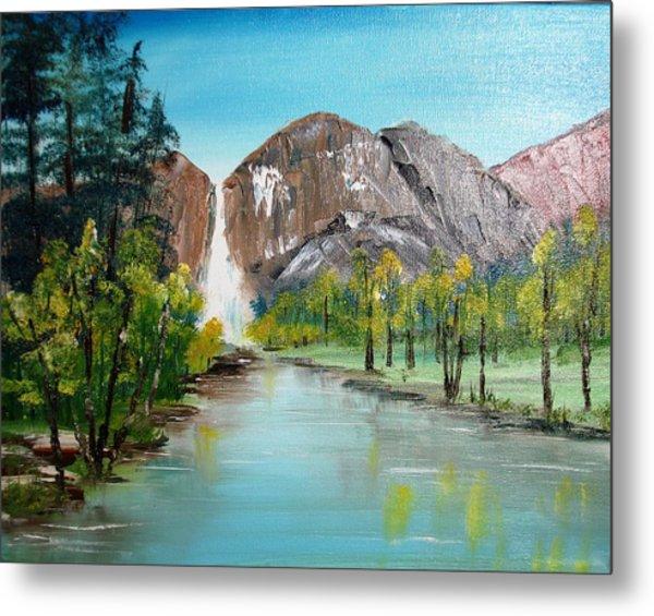 Yosemite Falls Metal Print by Larry Hamilton