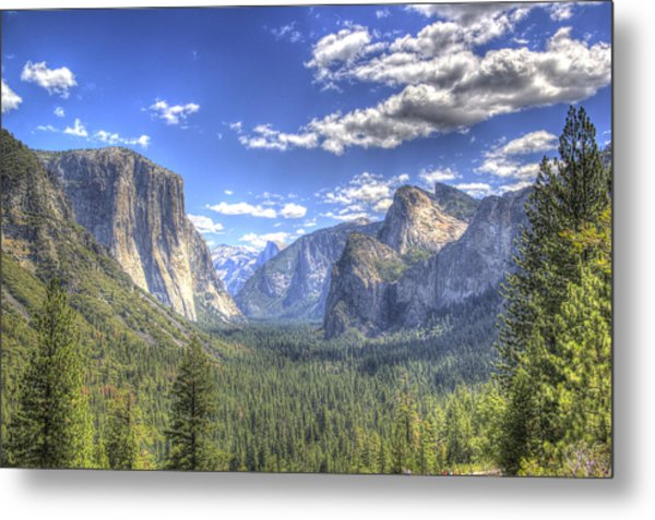 Yosemite Valley Hdr Metal Print