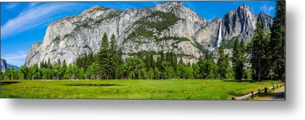 Yosemite Valley Meadow Panorama Metal Print