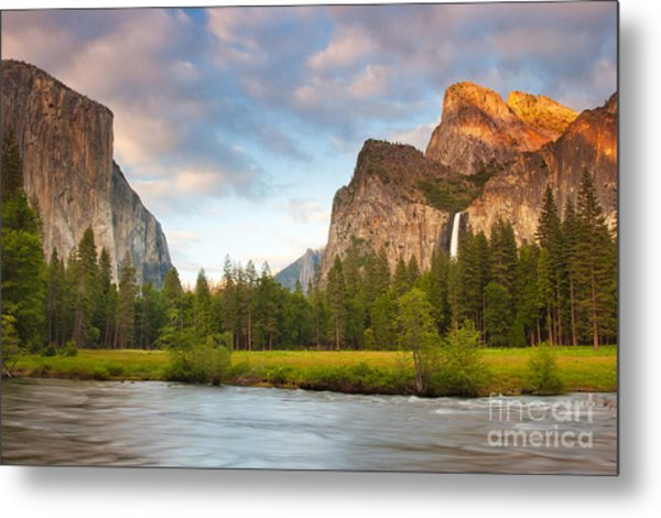 Yosemite Valley View Metal Print by Buck Forester