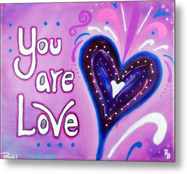 You Are Love Purple Heart Metal Print
