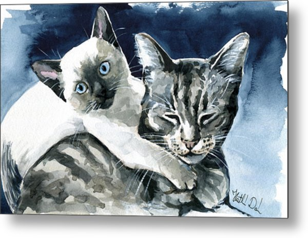 You Are Mine - Cat Painting Metal Print
