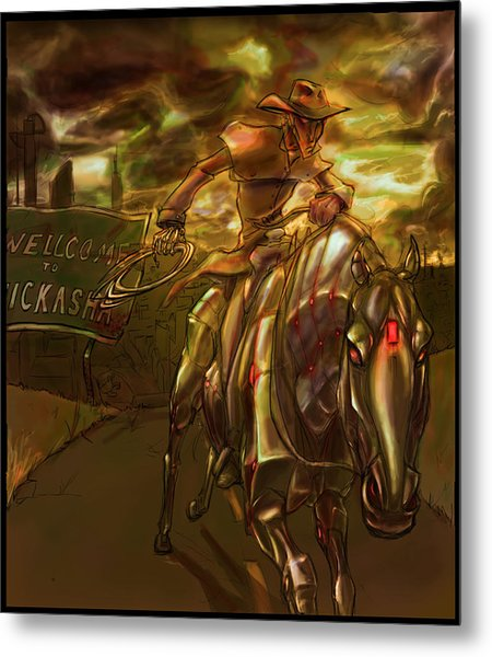 You Are Now Leaving City Limits Metal Print by Jamie Lindenmeier