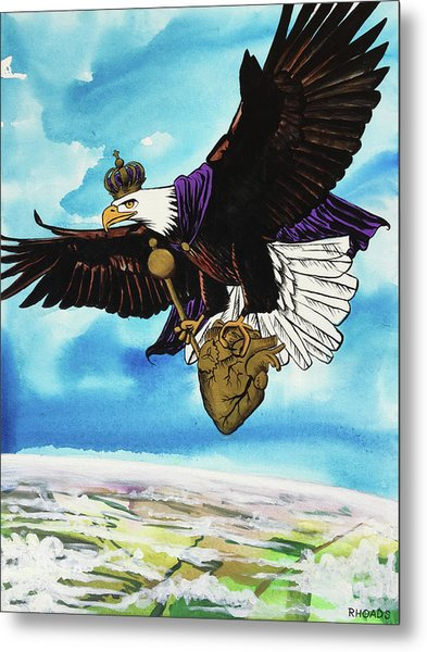 Metal Print featuring the painting You Can Soar by Nathan Rhoads