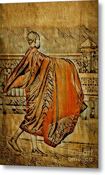 Young Buddhist Monk Metal Print