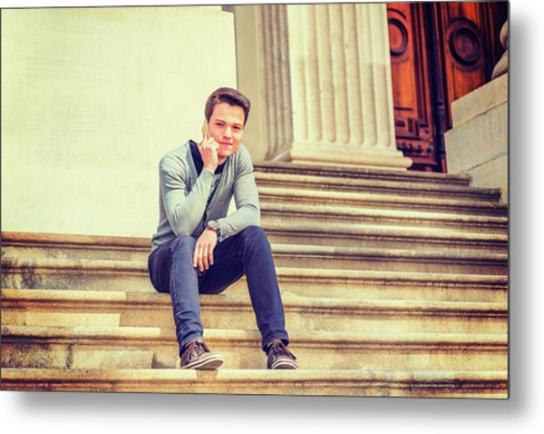 Metal Print featuring the photograph Young College Student 15042515 by Alexander Image