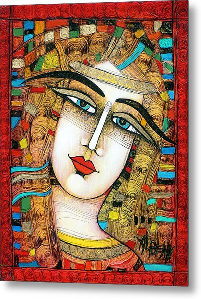 Young Girl Metal Print by Albena Vatcheva