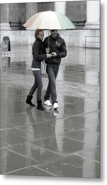 Young Love Under The Weather Metal Print by Jez C Self