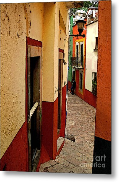 Young Man In The Alley Metal Print by Mexicolors Art Photography