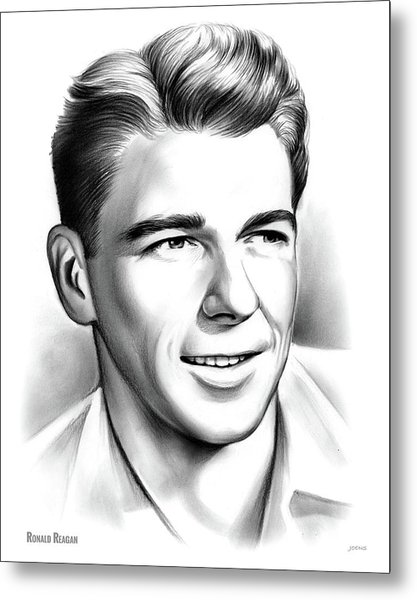 Young Reagan Metal Print