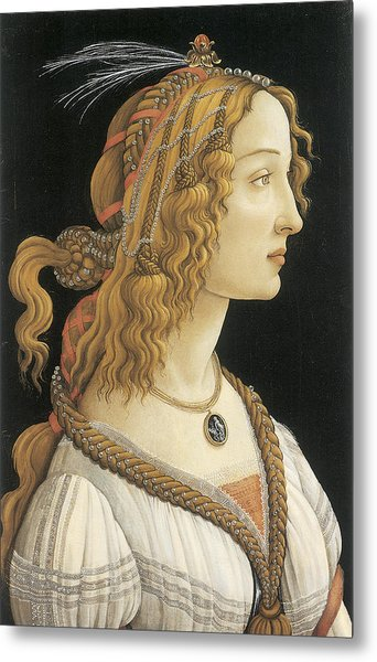 Young Woman In Mythical Guise Metal Print by Sandro Botticelli