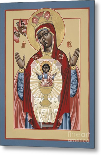 The Black Madonna Your Lap Has Become The Holy Table 060 Metal Print