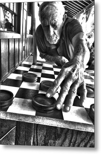 Your Move Dad Bw Art Metal Print