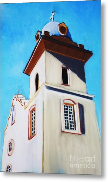 Ysleta Mission Metal Print
