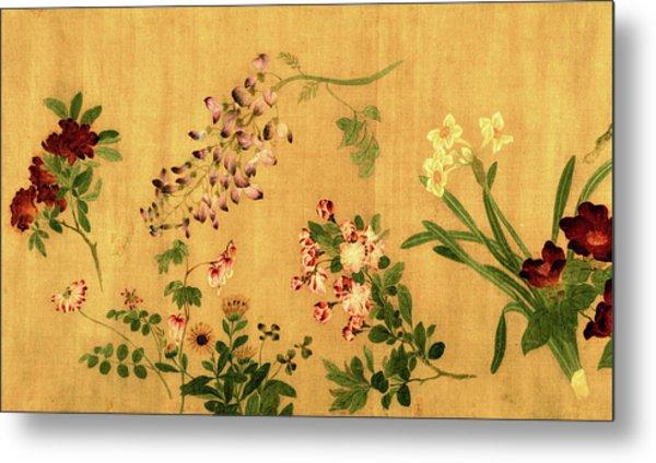 Yuan's Hundred Flowers Metal Print