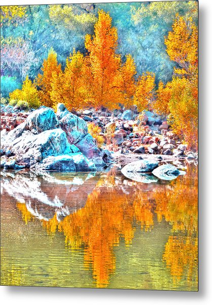 Yuba River Reflection Metal Print