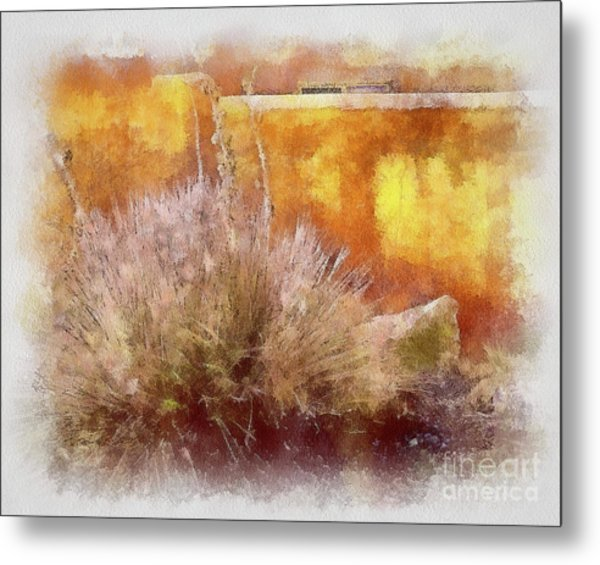 Yucca And Adobe In Aquarelle Metal Print