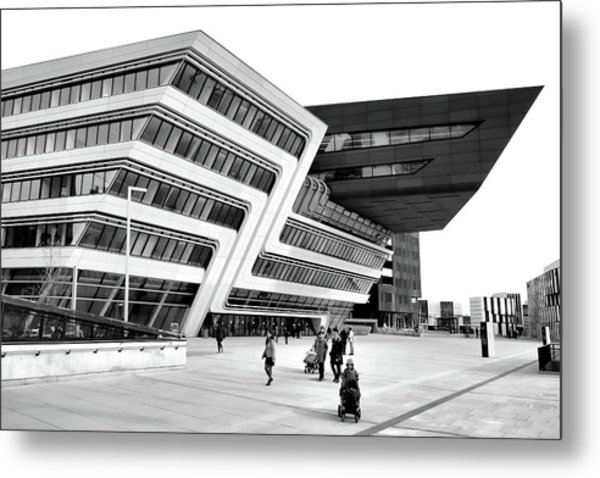 Zaha Hadid Library Center Wu Campus Vienna Metal Print