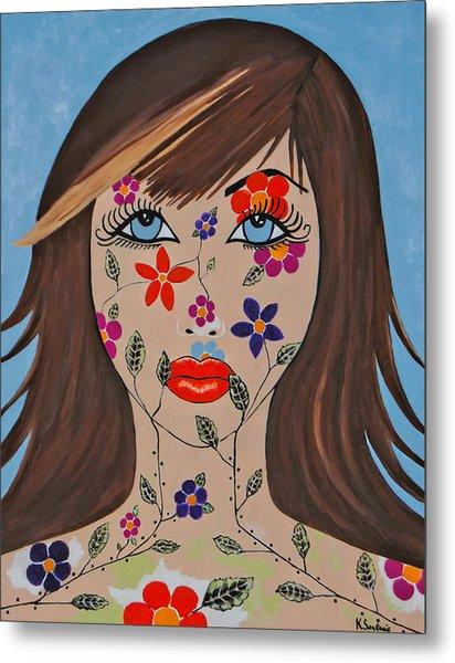 Zahir - Contemporary Woman Art Metal Print