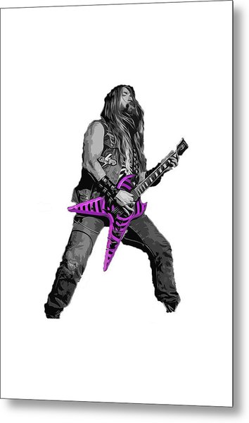 Zakk Guitarist Metal Print by Andrea Mazzocchetti