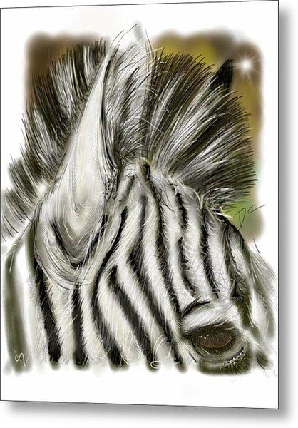Zebra Digital Metal Print
