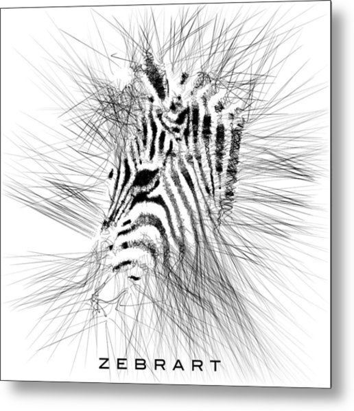Zebrart Metal Print