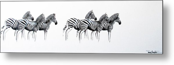 Zebrascape - Original Artwork Metal Print