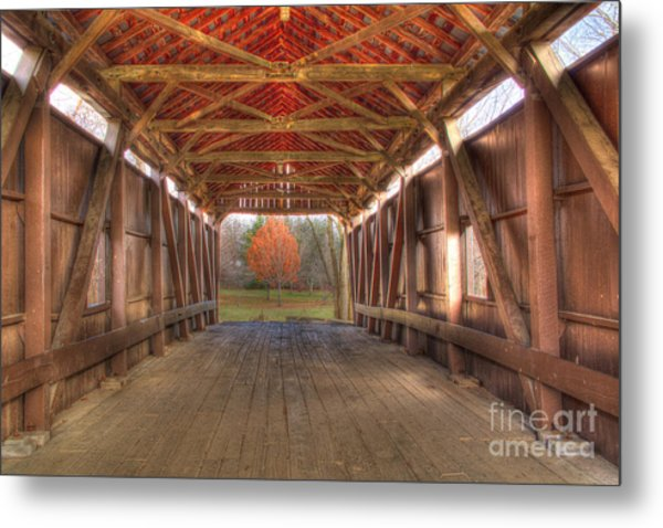 Sycamore Park Covered Bridge Metal Print
