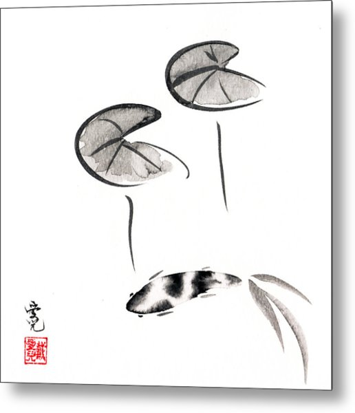Zen Fish Painting Metal Print