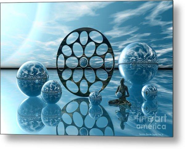 Metal Print featuring the digital art Zen Moment by Sandra Bauser Digital Art