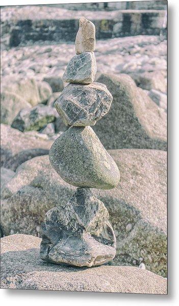 Zen Rocks Metal Print