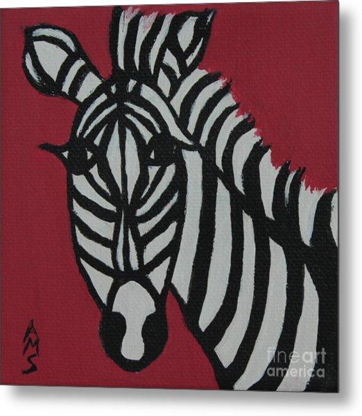 Zena Zebra Metal Print