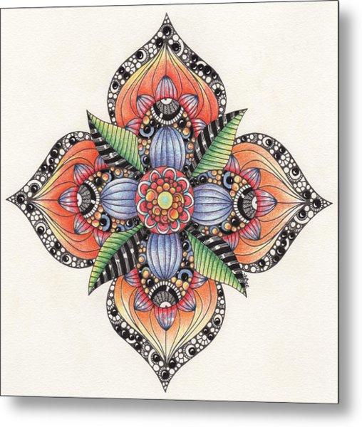 Zendala Template #1 Metal Print