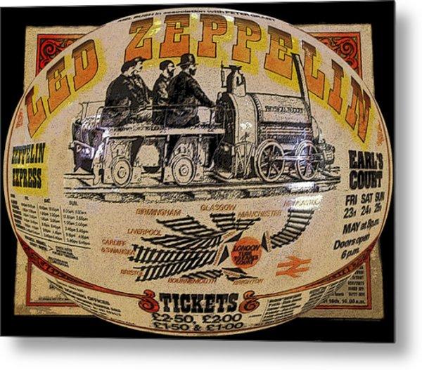 Zeppelin Express Work B Metal Print