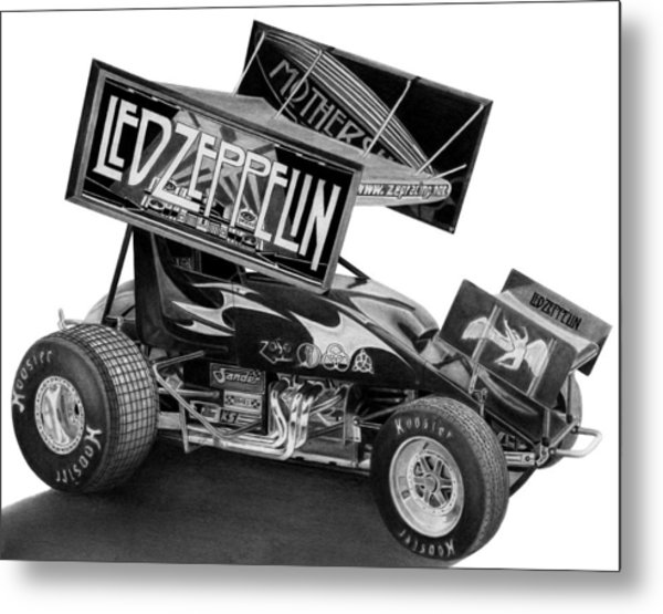 Zeppelin Sprinter Metal Print by Lyle Brown
