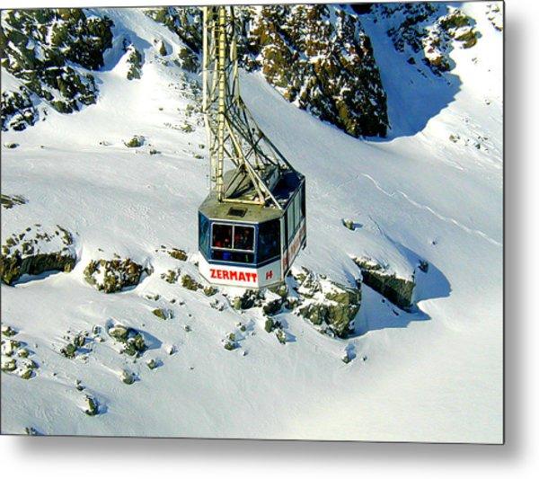 Zermatt Cable Car Metal Print