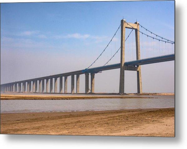 Zhengzhou Taohuayu Huanghe Bridge  Metal Print