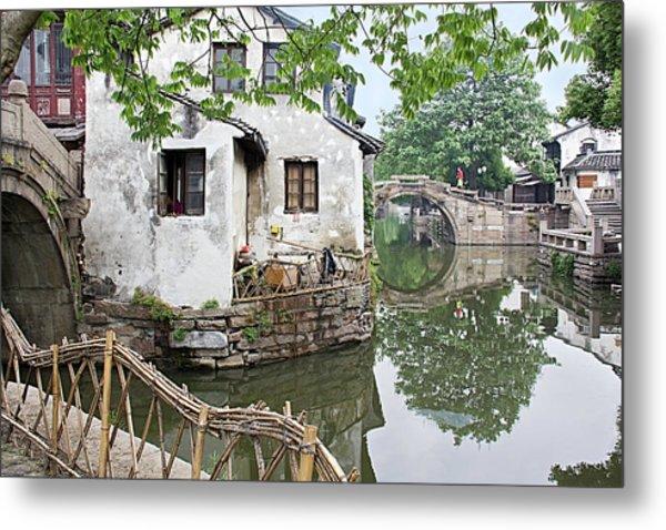 Zhouzhuang - A Watertown Metal Print