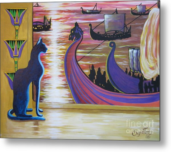Zig Of Blaa Kattproduksjoner   Inspects The Ships Metal Print
