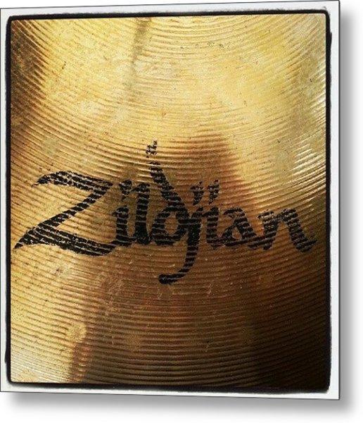 #zildjian #drums #drummer #cymbal Metal Print