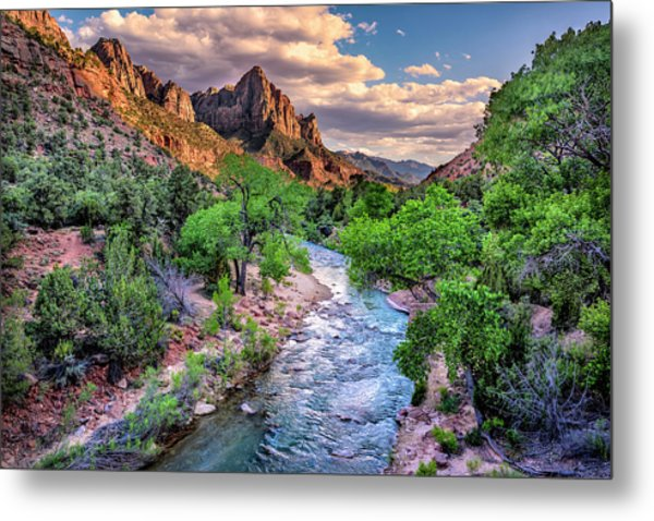Zion Canyon At Sunset Metal Print