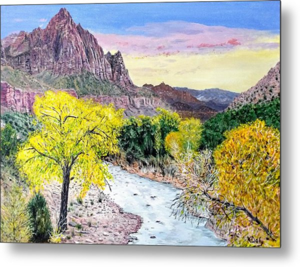 Zion Creek Metal Print