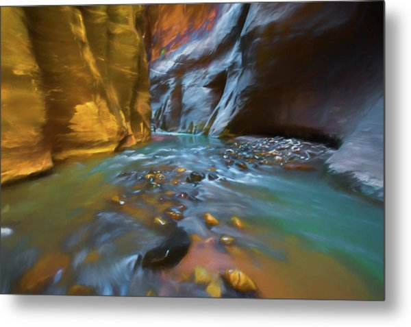 Zion Watercolor Metal Print