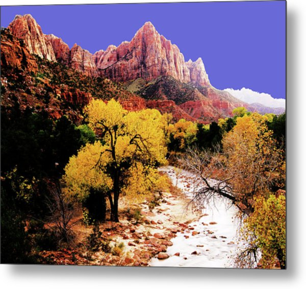 Metal Print featuring the photograph Zion's Watchman by Norman Hall