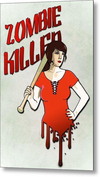 Zombie Killer Metal Print