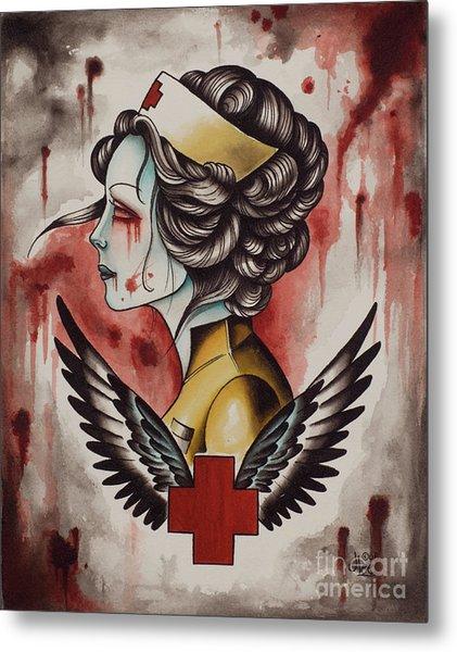 Zombie Nurse Metal Print